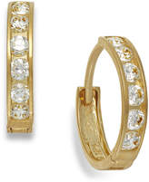 Macy's Cubic Zirconia Hoop Earrings in 10k Gold