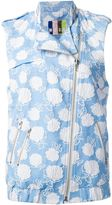 MSGM floral embroidered gilet