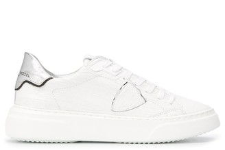 Philippe Model Paris Temple cracked-effect chunky sneakers