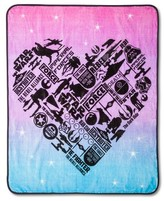 "Disney Star Wars® Classic Girl Heart Throw 50""X60"" - Pink"