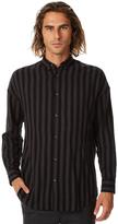Zanerobe Stripe Rugger Ls Mens Shirt Black