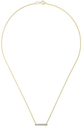 Sylvie Dana Rebecca Designs 14kt yellow gold Rose diamond bar necklace