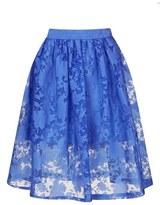 Topshop Burnout Midi Skirt