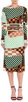 Emilio Pucci Marillyn Retro Geometric Optical-Print Midi Dress