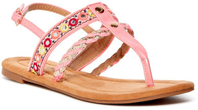Nature Breeze Dolly Embroidered Slingback Sandal