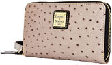 Dooney & Bourke Ostrich Zip Around Phone Wristlet