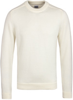 Cp Company Cream Wool Knit Sweater