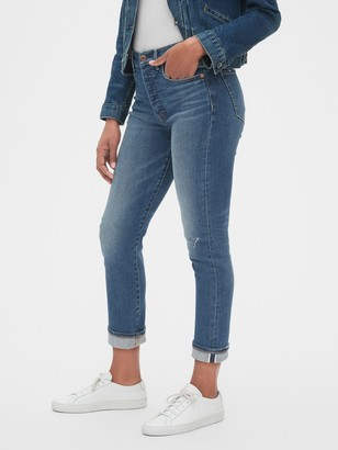 Gap High Rise Selvedge Cigarette Jeans
