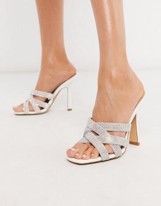 Aldo Kalaba mule heel sandal with rhinestone trim