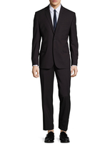 Kenneth Cole New York Men's Wool Notch Lapel Performance Stretch Suit