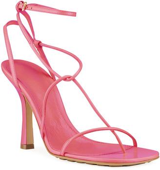 Bottega Veneta 90mm Square-Toe Thong Sandals