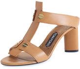 Tom Ford Leather T-Strap 65mm Slide Sandal