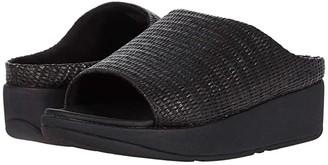 FitFlop Imogen Basket Weave Slides (Stone) Women's Shoes