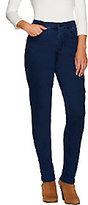 "Denim & Co. As Is How Modern"" Petite Denim Slim Leg Jeans"