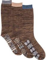 Muk Luks Marled Crew Socks Pack (3 Pairs) (Men's)