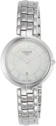 Tissot Womens Analogue Quartz Watch with Stainless Steel Strap T0942101111100