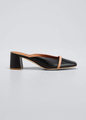 Malone Souliers Carmen 45mm Napa Leather Square-Toe Mules