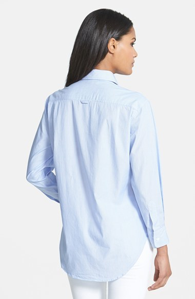 Equipment 'Tate' Embroidered Pinstripe Shirt