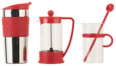 Bodum Bistro Coffee Set- Cafetiere, Travel Mug, Cup, Stirrer