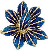 Tiffany & Co. 18K Blue Enamel Brooch