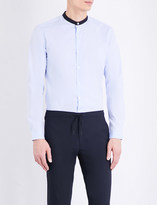 Sandro Mandarin collar cotton-poplin shirt
