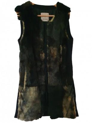Pinko Green Rabbit Coat for Women