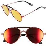 Givenchy Women's 56Mm Aviator Sunglasses - Red