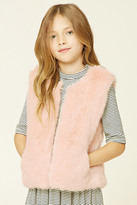 Forever 21 FOREVER 21+ Girls Faux Fur Vest (Kids)