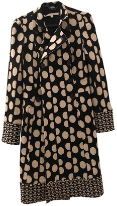 Diane von Furstenberg Black Cotton Coats