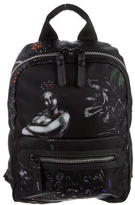 Lanvin Printed Leather-Trimmed Backpack