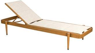 Augustine Woodard Daytona Padded Reclining Chaise Lounge (Set of 2) Woodard Seat Color Alloy, Frame Color: Chestnut Brown