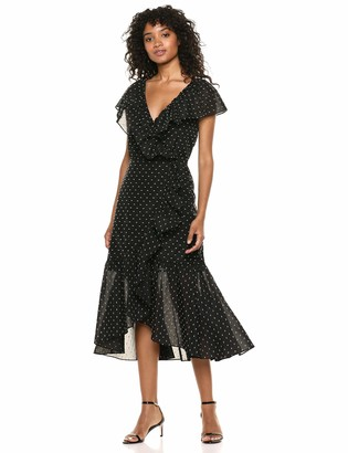 Rebecca Taylor Women's Short Sleeve Birdseye Dot Dress