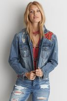 American Eagle Outfitters AE Embroidered Denim Jacket