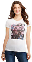 Aeropostale Womens Star Chart Graphic T Shirt White