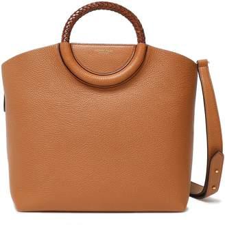 Michael Kors Skorpios Braid-trimmed Textured-leather Shoulder Bag