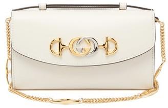 Gucci Zumi Mini Leather Cross-body Bag - White