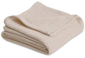 Vellux Cotton Textured Chevron Woven King Blanket Bedding