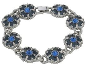 Downton Abbey Crystal Enamel Link Clasp Bracelet