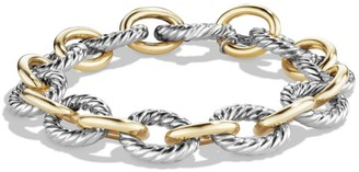 David Yurman Large Oval Link Bracelet with 18K Yellow Gold