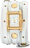 La Mer Women's LMSW1016 Gold Studded Layer Wrap Watch