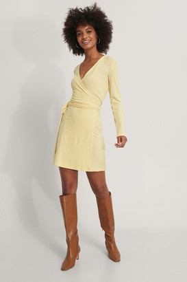 NA-KD Overlap Tie Short Dress