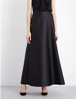 Black Satin A Line Skirt - ShopStyle