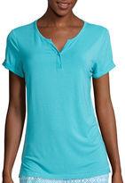 Asstd National Brand Cool Girl Short-Sleeve One-Button Cuffed Nightshirt