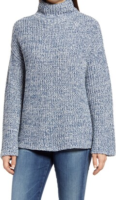 Caslon Shaker Mock Neck Sweater