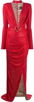 Philipp Plein Plunging Neckline Dress