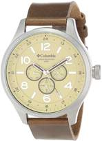 Columbia Men's CA015220 Skyline Large Round Watch With Brown Synthetic Band