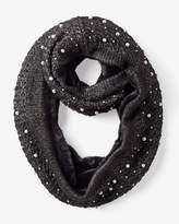 White House Black Market Knit Infinity Scarf with Faux Pearls