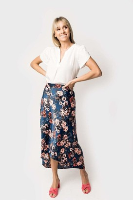 Gibson Maxi Bias Pull-On Skirt