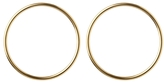 Jennifer Fisher XL Smooth Circle Earrings - Yellow Gold