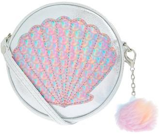 Accessorize Girls Mermaid Shell Bag - Silver